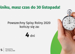 Powszechny Spis Rolny 2020 - 4 dni do końca