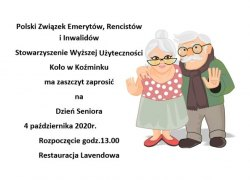 Zaproszenie na Dzień Seniora