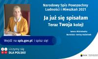 Burmistrz Gminy Koźminek zaprasza do udziału w Narodowym Spisie Powszechnym Ludności i Mieszkań 2021.