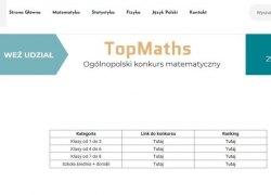 """Ogólnopolski konkurs matematyczny pt. """"TopMaths"""""""
